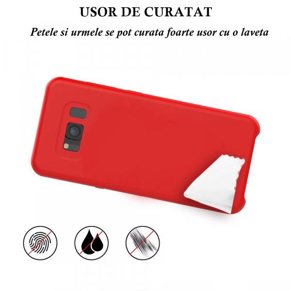 Husa pentru Samsung Galaxy S8 Plus, Red Slim, Liquid Silicone 3