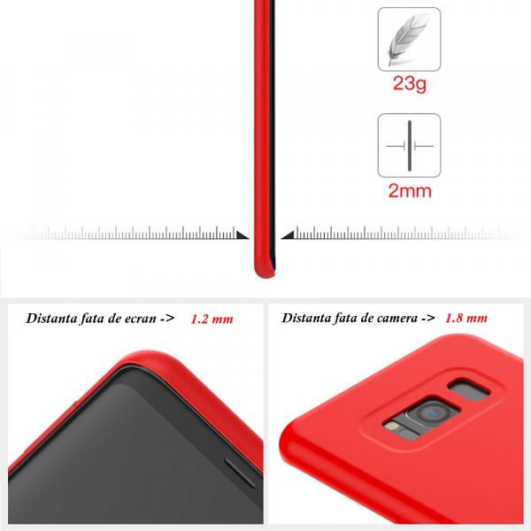 Husa pentru Samsung Galaxy S8 Plus, Red Slim, Liquid Silicone 4