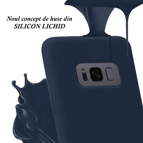 Husa pentru Samsung Galaxy S8 Plus, Blue Slim, Liquid Silicone 2