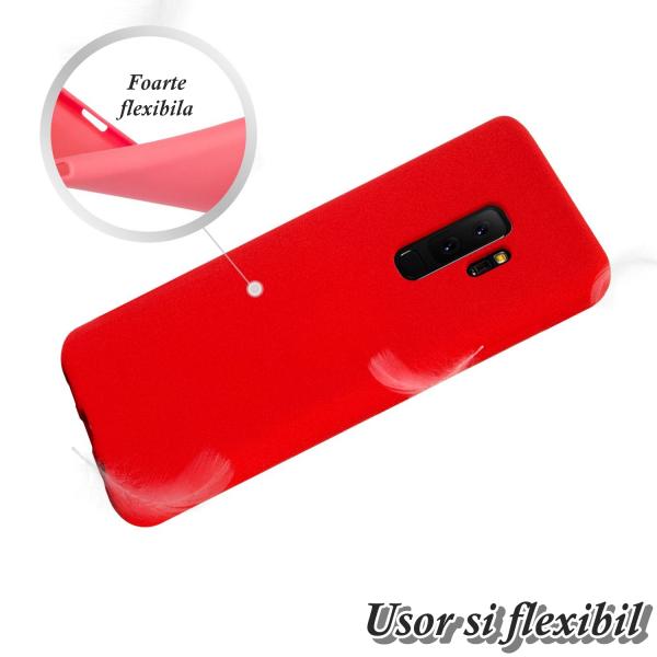 Husa pentru Samsung Galaxy S9 Plus, Red Slim, Liquid Silicone 2