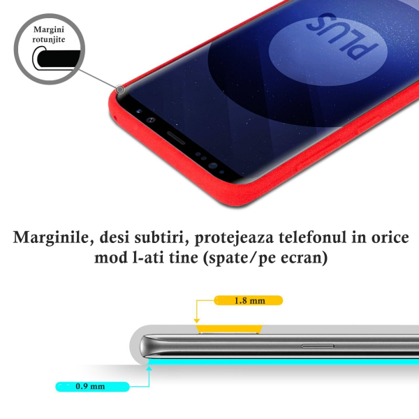 Husa pentru Samsung Galaxy S9 Plus, Red Slim, Liquid Silicone 3