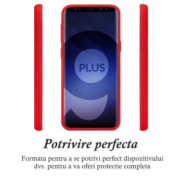 Husa pentru Samsung Galaxy S9 Plus, Red Slim, Liquid Silicone 1