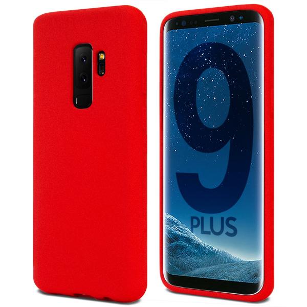 Husa pentru Samsung Galaxy S9 Plus, Red Slim, Liquid Silicone 0