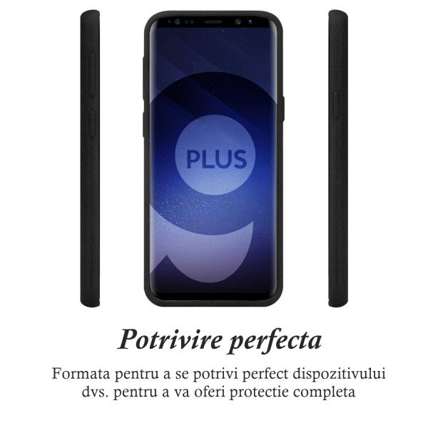 Husa pentru Samsung Galaxy S9 Plus, Black Slim, Liquid Silicone 1