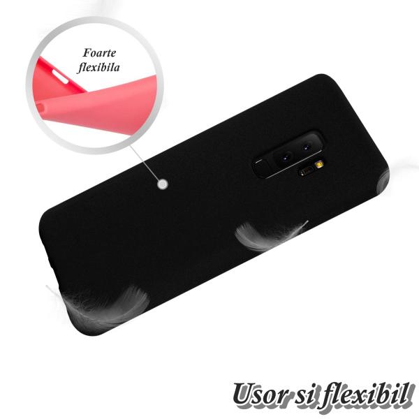 Husa pentru Samsung Galaxy S9 Plus, Black Slim, Liquid Silicone 2
