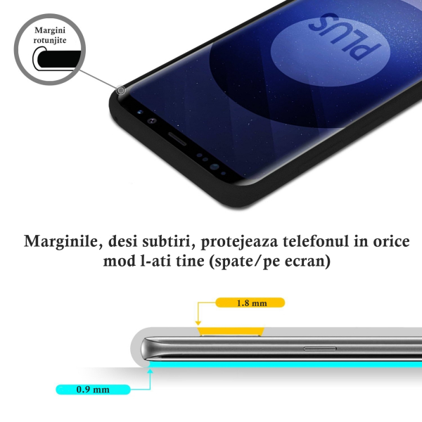 Husa pentru Samsung Galaxy S9 Plus, Black Slim, Liquid Silicone 3