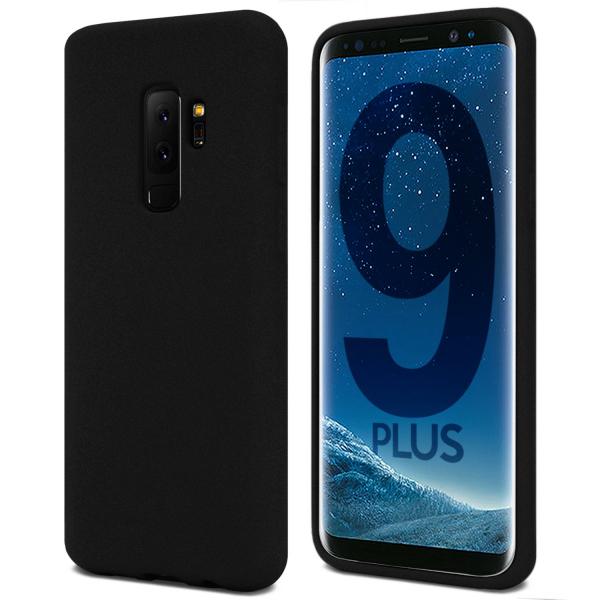 Husa pentru Samsung Galaxy S9 Plus, Black Slim, Liquid Silicone 0