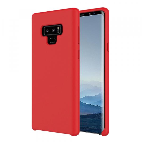 Husa pentru Samsung Note 8, Red Slim, Liquid Silicone 0
