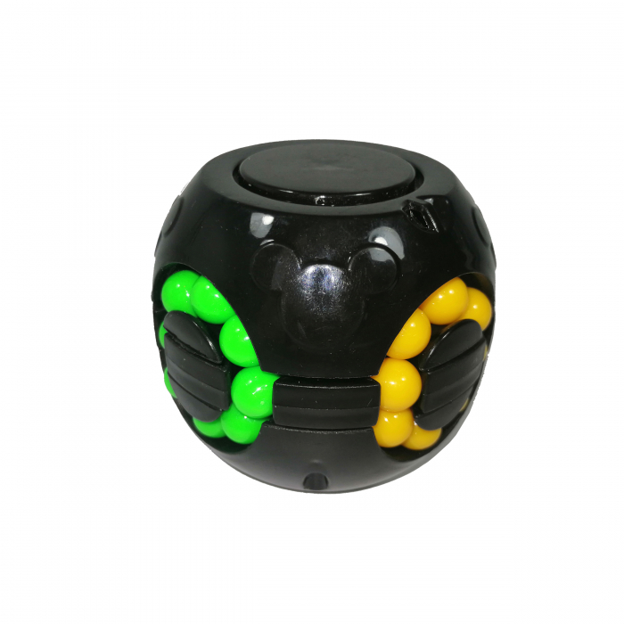 Jucarie antistres, bila Rubik, plastic, negru 0
