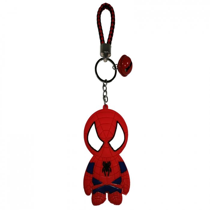 Breloc Spiderman pentru copii, cauciuc, rosu, 22 cm [0]