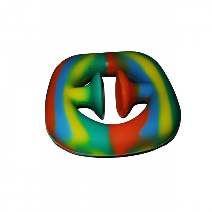 Jucarie antistres senzoriala, cauciuc, 6 cm, multicolor [4]