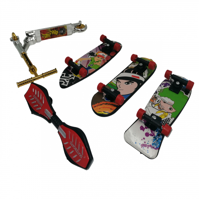 Set de mini jucarii, Fingerboard Street, plastic, multicolor [1]