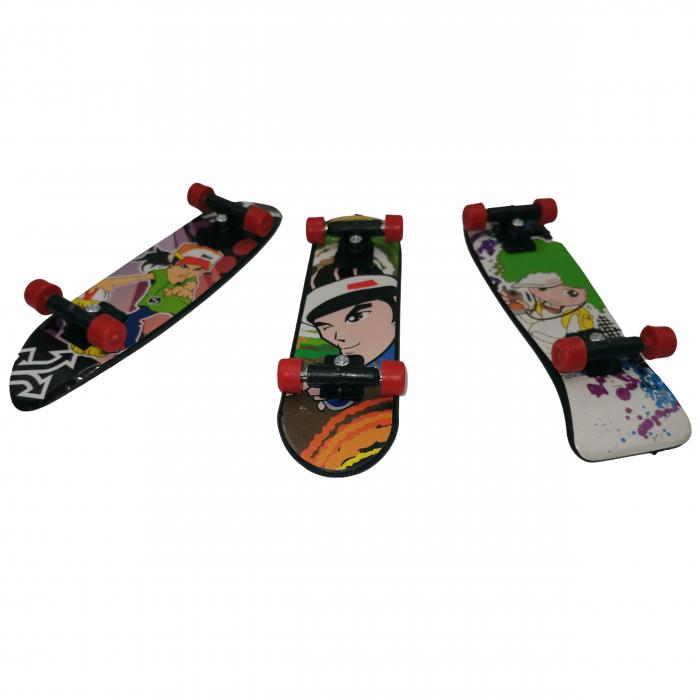 Set de mini jucarii, Fingerboard Street, plastic, multicolor [2]