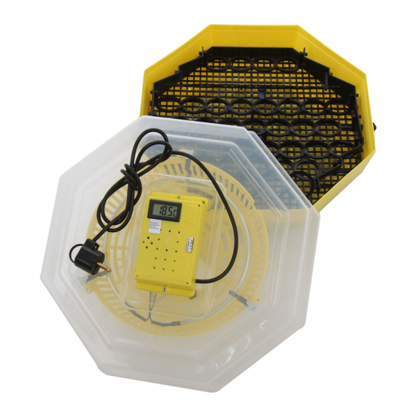 Incubator electric pentru oua cu dispozitiv intoarcere si termometru, Cleo, model 5DT 2