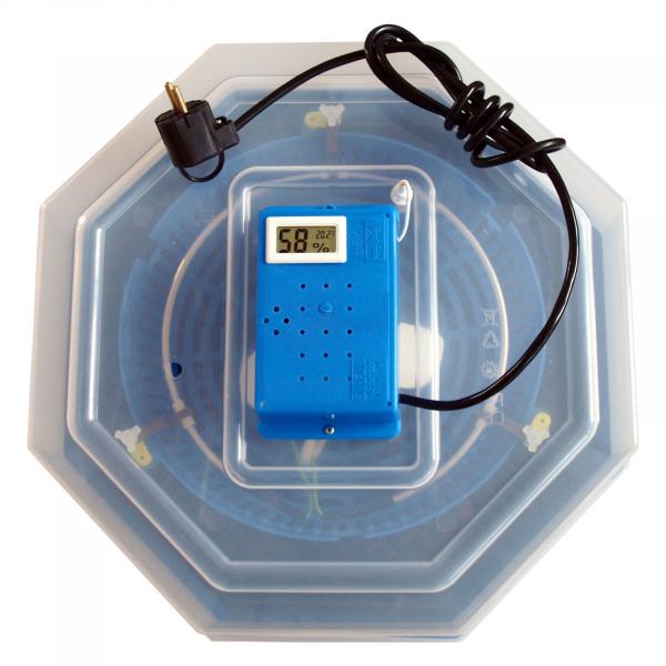 Incubator electric pentru oua cu dispozitiv de intoarcere, termometru si termohigrometru, Cleo, model 5DTH [2]