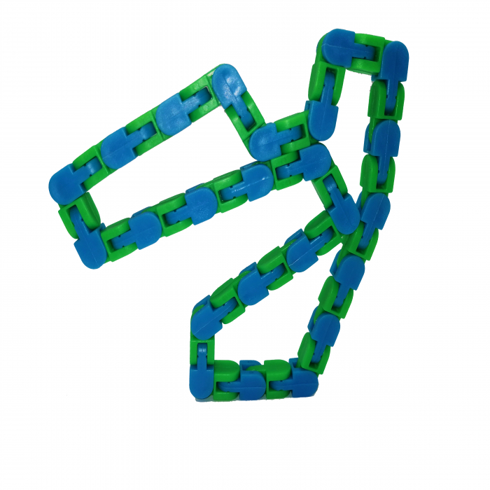 Jucarie antistres, Sensorial Snake, multicolor, 54 cm [6]