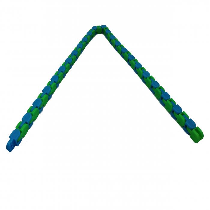 Jucarie antistres, Sensorial Snake, multicolor, 54 cm [8]