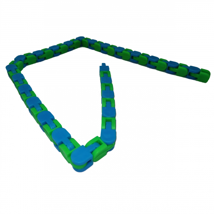 Jucarie antistres, Sensorial Snake, multicolor, 54 cm [9]