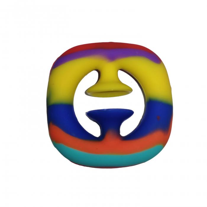 Jucarie antistres senzoriala, cauciuc, 6 cm, multicolor [5]