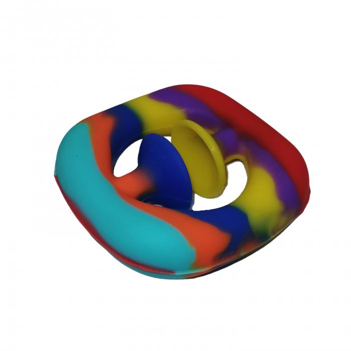Jucarie antistres senzoriala, cauciuc, 6 cm, multicolor [6]