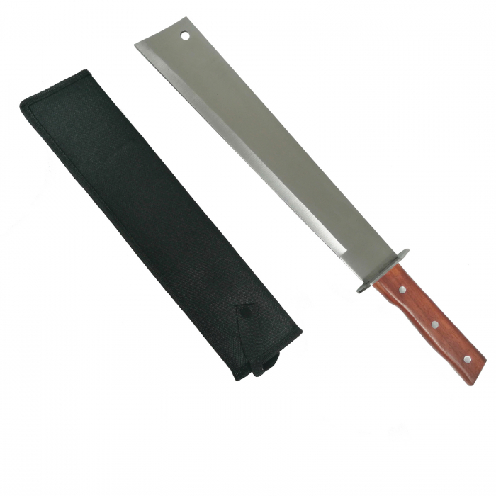 Maceta, otel inoxidabil, argintiu, Wood Blade, 70 cm [0]