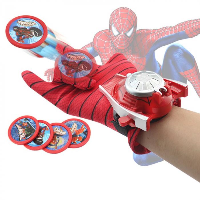 Set costum Spiderman, masca LED si manusa cu lansator [3]