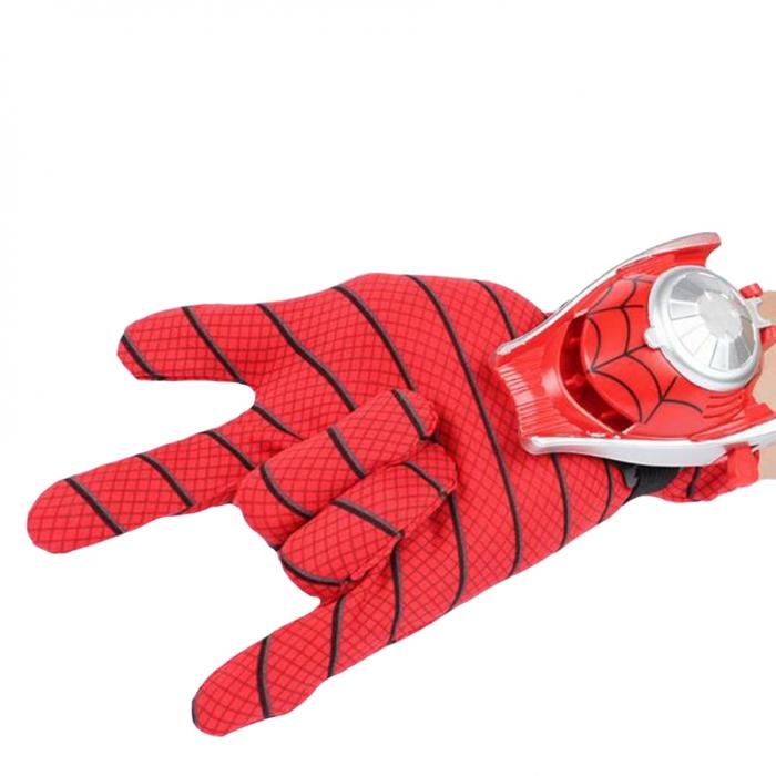 Set costum Spiderman, masca LED si manusa cu lansator [4]