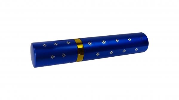 Mini electrosoc in forma de ruj cu lanterna, albastru 1