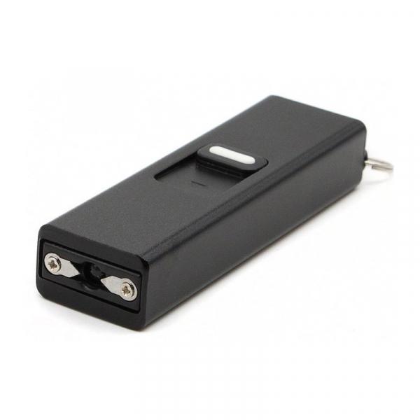 Mini electrosoc tip breloc cu lanterna, negru 0