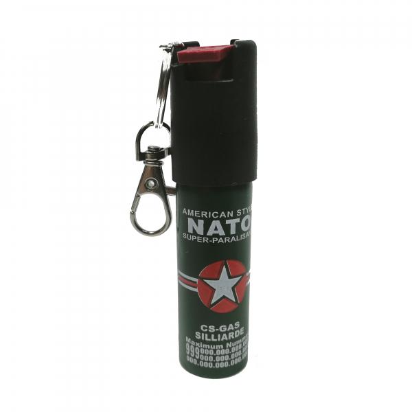 Mini-Spray paralizant NATO, tip breloc, propulsie jet, 20 ml 0