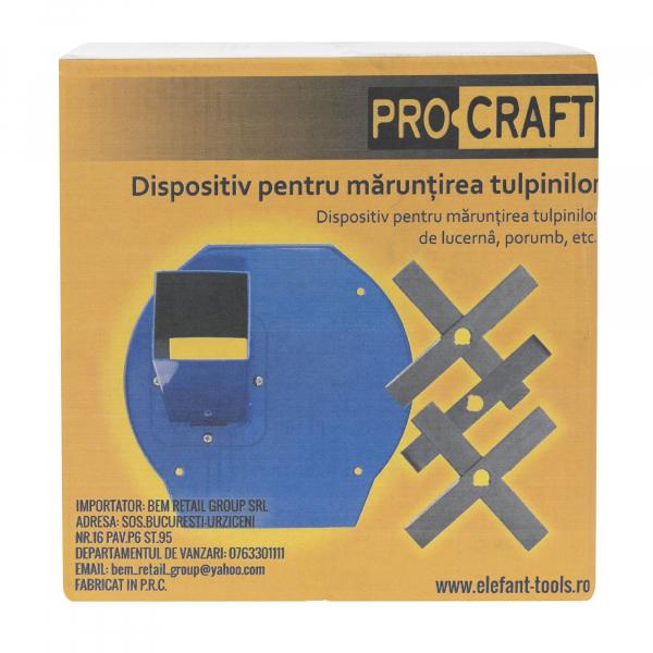 Moara Electrica ProCraft, 3.5 kW, 3000 rpm, 3 site interschimbabile, dispozitiv pentru maruntirea tulpinilor cadou 6
