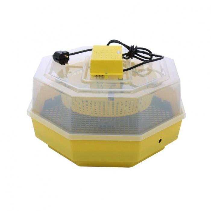 Incubator electric pentru oua cu dispozitiv dublu de intoarcere automat, termometru si hidrociclometru, Cleo, model 5X2-DTH [0]
