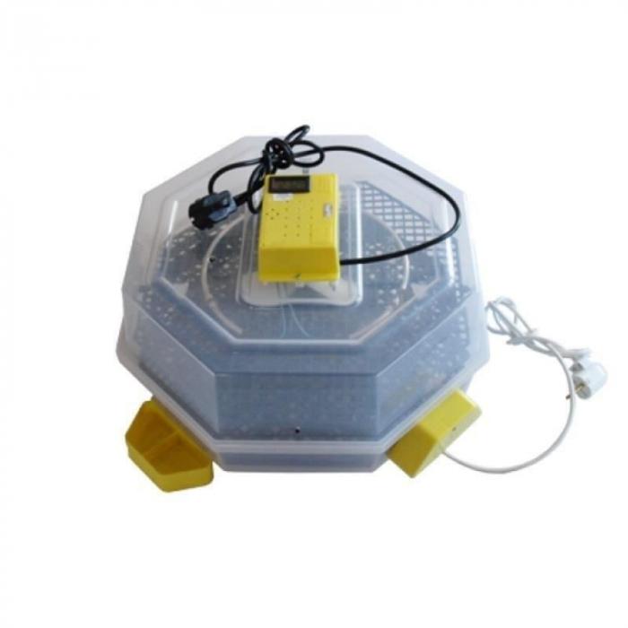 Incubator electric pentru oua cu dispozitiv de intoarcere automat, termometru si termohigrometru, Cleo, model 5DTH-A [0]