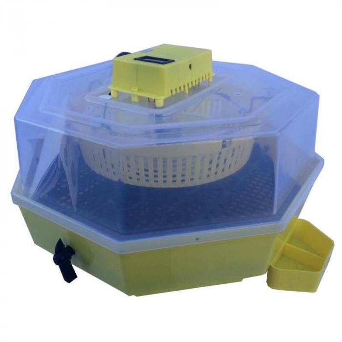 Incubator electric pentru oua cu dispozitiv de intoarcere automat, termometru si termohigrometru, Cleo, model 5DTH-A [1]