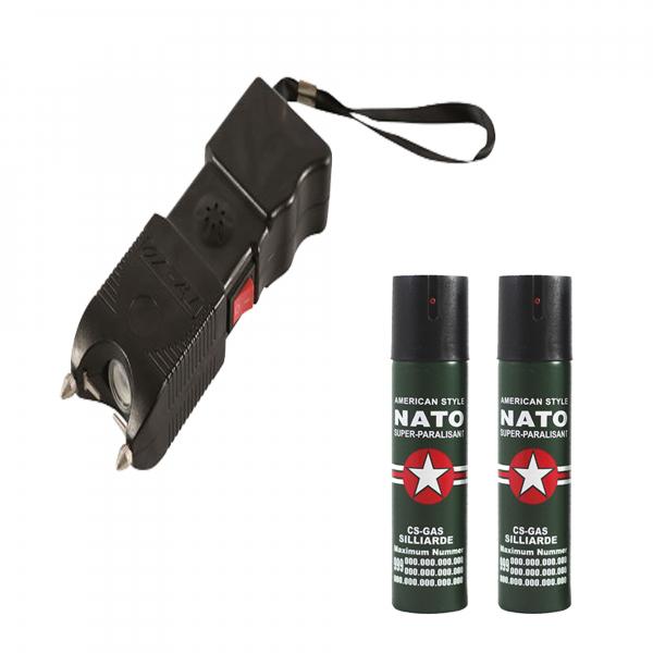 Set 2 sprayuri paralizante, NATO, 60 ml si electrosoc, 400 kV 0