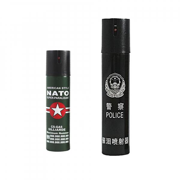 Set 2 sprayuri paralizante, NATO 60 ml si USA Police 110 ml 0
