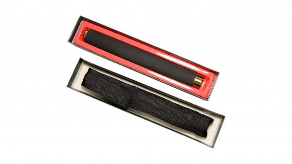 Set baston telescopic 65 cm auriu + box negru 0.5 cm grosime 4