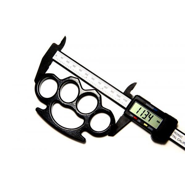 Set baston telescopic din otel, negru, 64 cm + box negru 0.5 cm grosime 6