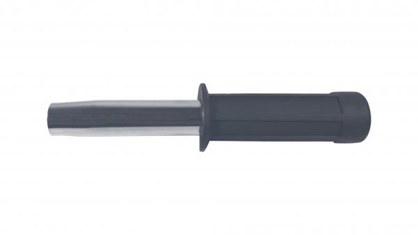 Set baston telescopic flexibil argintiu, maner cauciuc, 47 cm  + box,rozeta craniu negru [2]