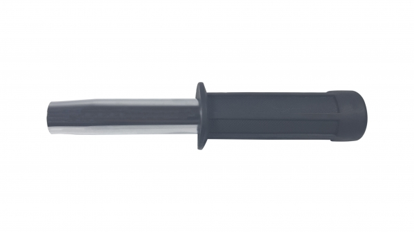 Set baston telescopic flexibil argintiu, maner cauciuc, 47 cm  +  box negru 1 cm grosime 2