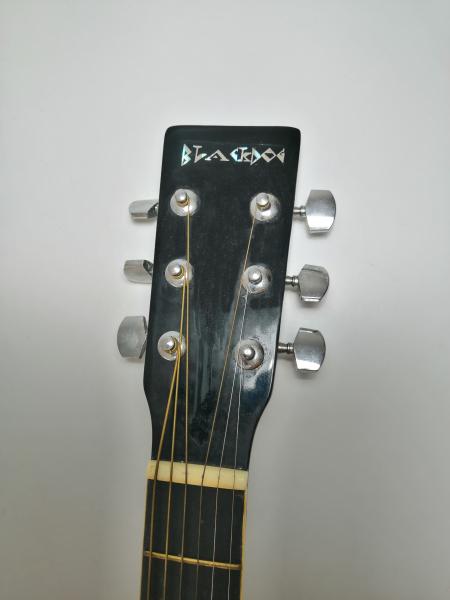 Set chitara clasica din lemn 95 cm, negru clasic, husa nylon si corzi acustice 5