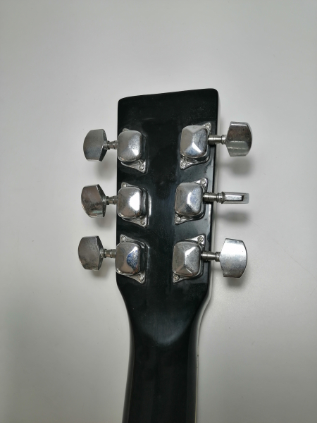 Set chitara clasica din lemn 95 cm, negru clasic, husa nylon si corzi acustice 6