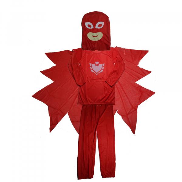 Set costum Eroi in Pijamale - Bufnita - Amaya - marimea S si manusa cu lansator 1