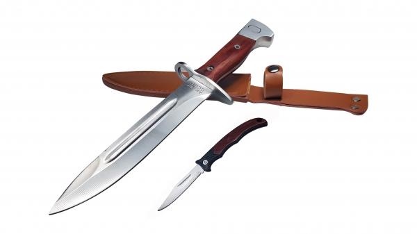 Set Cutit AK  pentru camping si vanatoare 28 cm + mini briceag 0