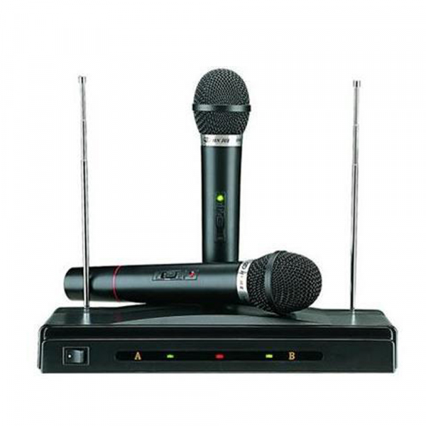 Set microfoane wireless si reciever C-05, cutit spaniol cadou 1