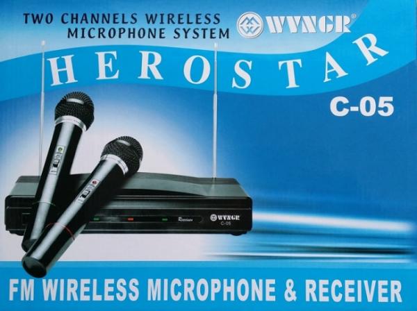 Set microfoane wireless si reciever C-05, cutit spaniol cadou 2