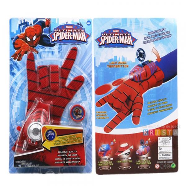Set manusi Spiderman cu lansator cu discuri 2