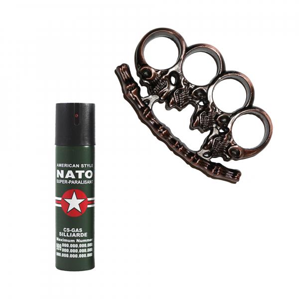 Spray NATO 60 ml, cadou rozeta, craniu, 1 cm, bronz [0]