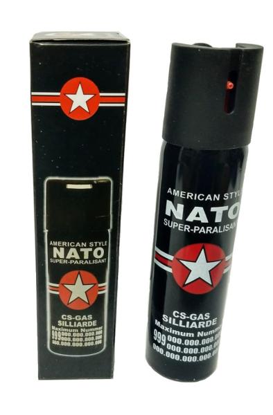 Spray paralizant NATO, propulsie jet, 90 ml, negru 1
