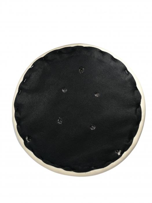 Taburet pentru scaun rotund, piele ecologica, 34 cm, bej 1